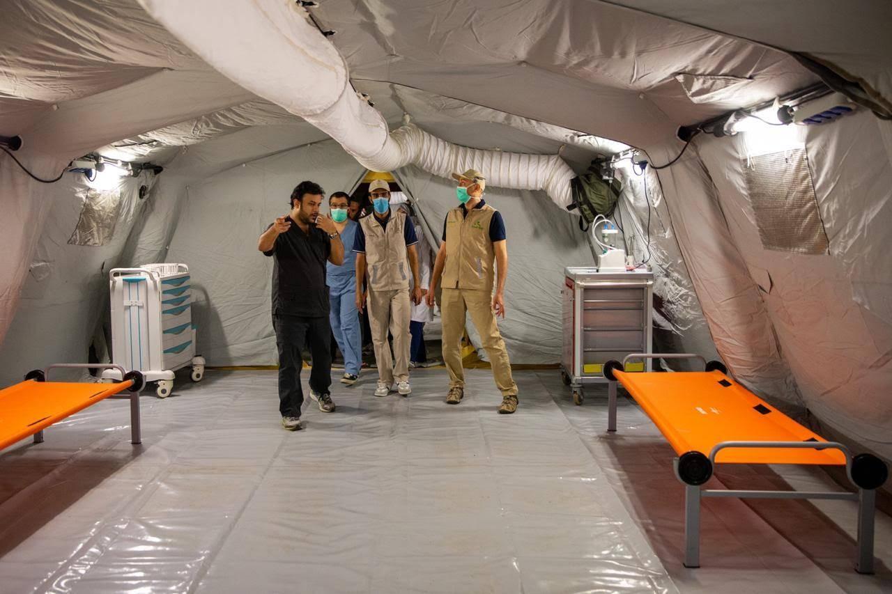 100-bed new coronavirus field hospital in Makkah