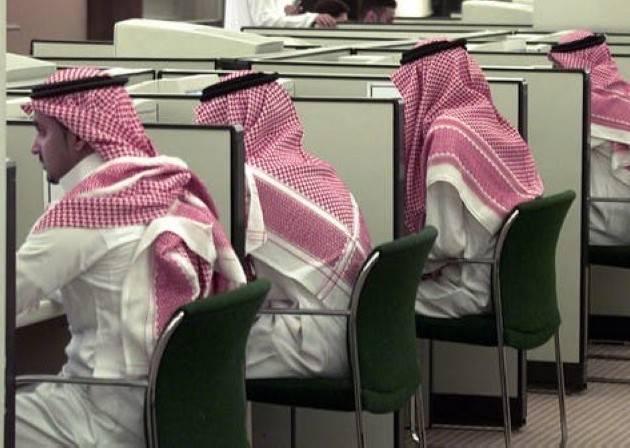 Saudi students attend a computer class at King Saud University in Riyadh. — File photo