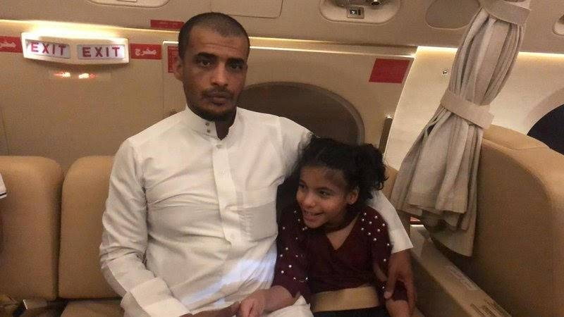 Al-Hassan Ali Khobrani has no words to express his profound gratitude to MoH for undertaking such a great mission to ensure proper treatment for his daughter. — Courtesy photo