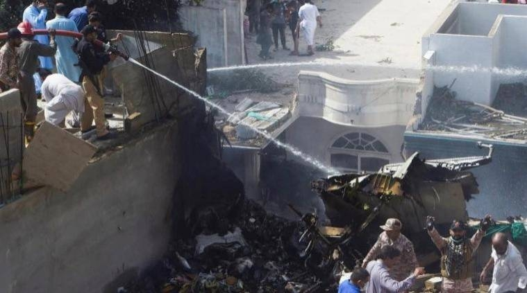 At least two passengers had a miraculous escape after their ill-fated Pakistan International Airlines plane carrying nearly 100 people crashed into a residential neighborhood in the southern city of Karachi on Friday. — Courtesy photo