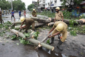 A massive clean-up operation has begun in both the countries after the storm flattened homes, uprooted trees and left cities without power. — Courtesy photo