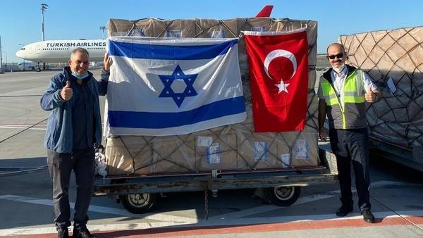 Cargo from Israel arriving in Turkey for the first time in 10 years. — Courtesy photo