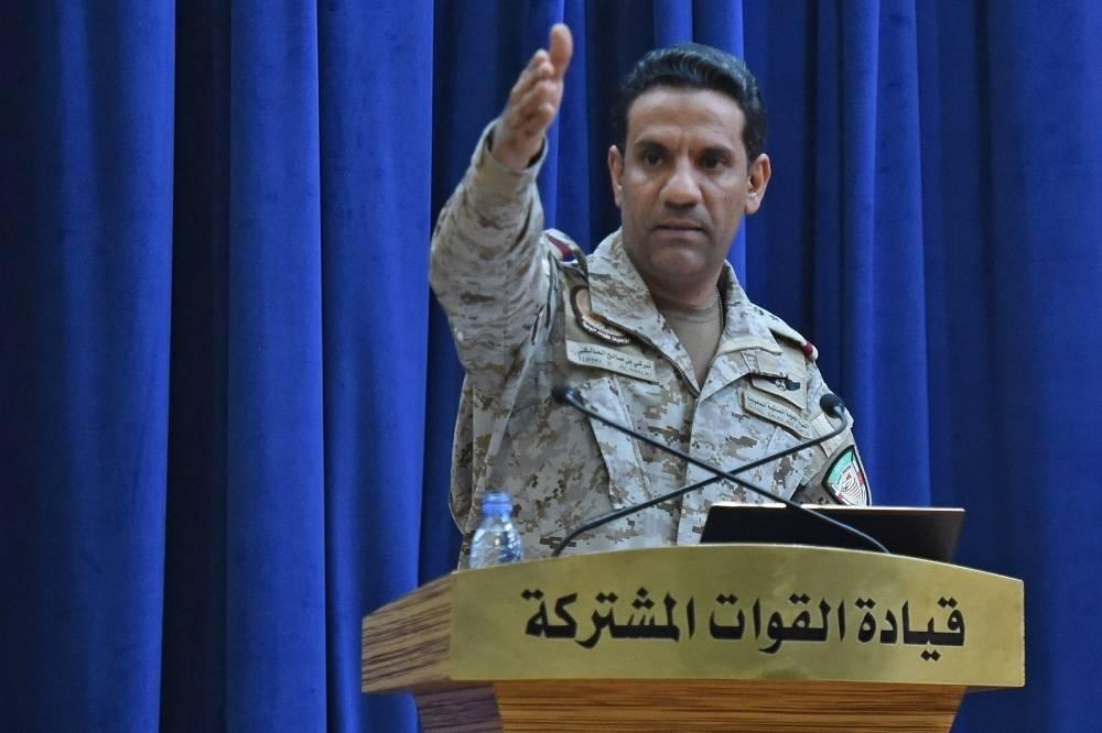 Col Turki Al-Maliki, the official spokesman of the Arab coalition supporting Yemen's legitimate government.