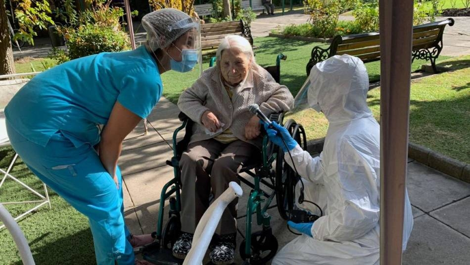 Juana Zuniga, who turns 112 in July, has recovered from COVID-19 in Chile. — courtesy SENAMA