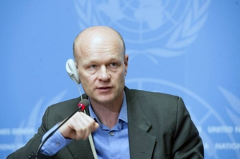 United Nations' Office for the Coordination of Humanitarian Affairs (OCHA) Deputy Spokesperson Jens Laerke.