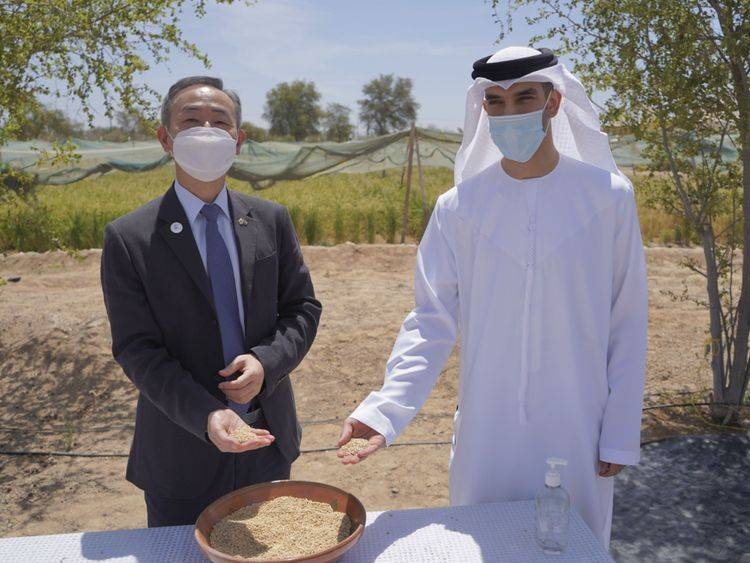 UAE's Minister of Climate Change and Environment  Dr. Thani Bin Ahmed Al Zeyoudi, right, is seen with Kwon Yongwoo, Ambassador of the Republic to Korea to the UAE. — WA photo