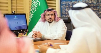 Qassim Emir Prince Faisal Bin Mishaal chairs an online meeting on Tuesday to discuss COVID-19 precautions following easing of restrictions. -- SPA