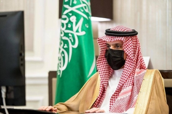 Saudi Arabia is committed to the efforts of the Global Coalition to Defeat Daesh (the so-called IS) and is determined to eliminate the terrorist organization and its cells, said Prince Faisal Bin Farhan, Minister of Foreign Affairs, on Thursday. — SPA photo