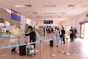 Of the four flights, two arrived at King Khalid International Airport in Riyadh from the US cities of Washington and Houston and two landed at King Abdulaziz International Airport at from the US city of New York and the Lebanese capital Beirut. — SPA photos