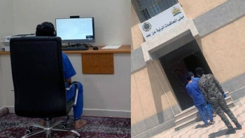 The Directorate General of Prisons in cooperation with the Ministry of Justice has held 11,052 remote trial sessions (by video-link) for male and female inmates in the prisons in various regions of the Kingdom.