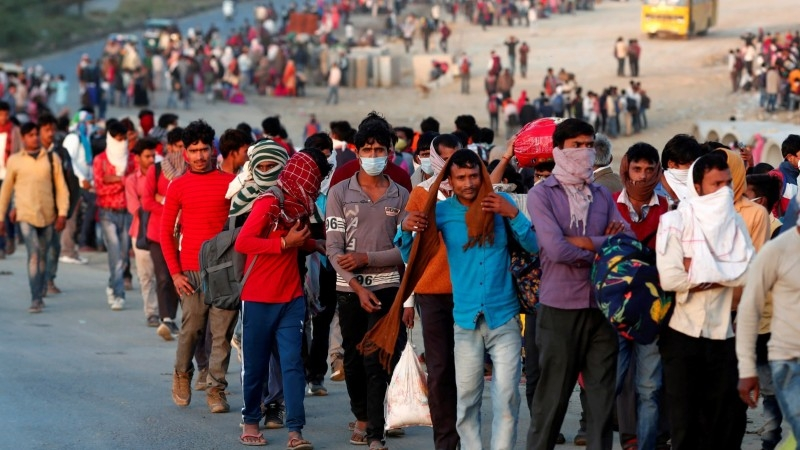 India's migrant workers have been hit especially hard during the lockdown, with many forced to return to villages far from workplaces in the cities. -- File photo