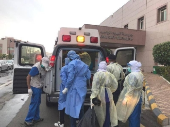 Health authorities opted for evacuation to ensure safety of the patients who required continuous supply of oxygen. -- Okaz photo