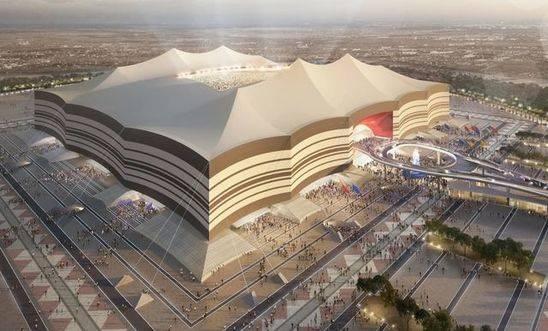Artist's impression of the completed Al Bayt Stadium. — courtesy LOC FIFA