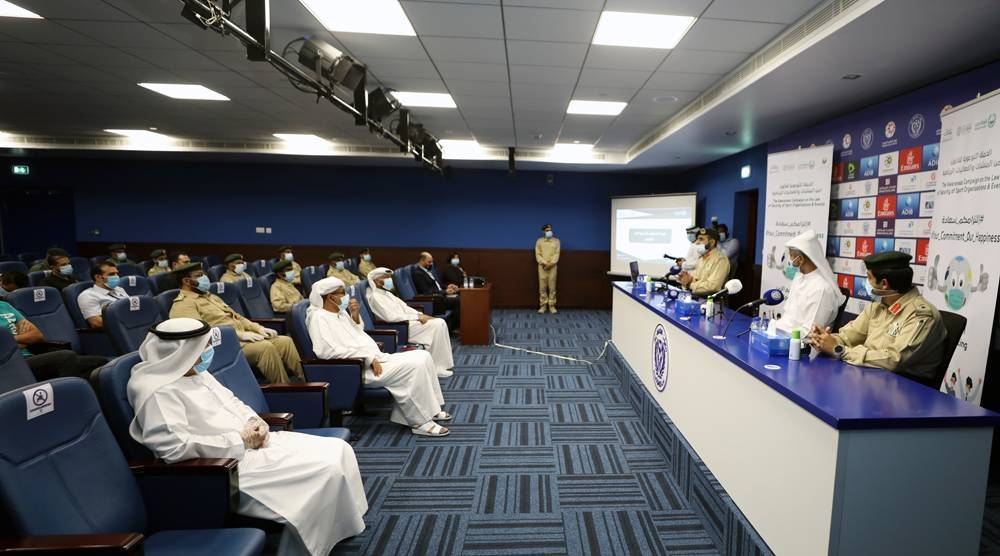 Dubai Police and Dubai Sports Council's workshop on Thursday with sporting events security firms discussed the main issues relating to the return of spectators to sports events under the shadow of COVID-19.