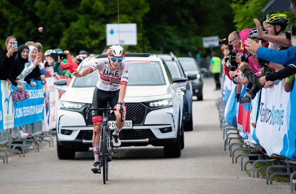Tadej Pogačar narrowly missed out on a dream return to racing Sunday at the Slovenian National Championships with Primoz Roglic (Jumbo-Visma) taking the win by just 10 seconds.