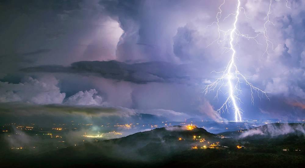 A lightning storm as seen from Istria, Croatia. — courtesy WMO/Boris Baran