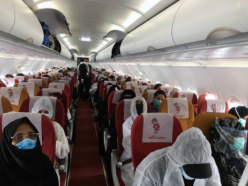 This file photo shows Air India flight at Riyadh airport awaiting departure for Kozhikode (Calicut) in the southern Indian state of Kerala.