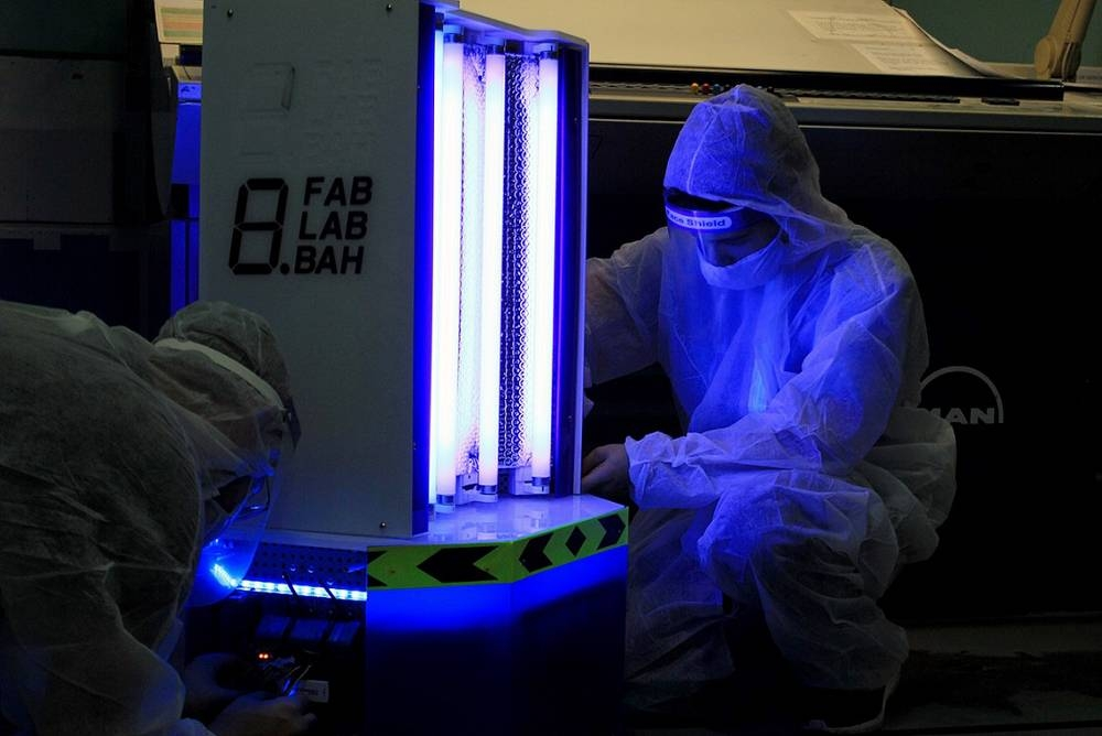 A new COVID-fighting robot that emits ultraviolet (UV) light to disinfect public spaces and offices has been revealed in Bahrain.