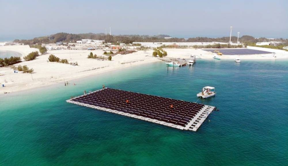 Waterproof solar panels have been instrumental in the development of a floating solar power plant off the coast of Nurai Island in the United Arab Emirates (UAE).