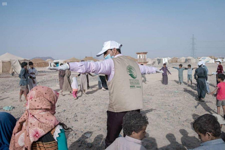 "The King Salman Humanitarian Aid and Relief Center (KSRelief) as part of its ""Seed of Safety"" project launched a three-day community and health initiative with the participation of orphan children to educate their peers about the best ways to keep them safe from coronavirus in the Ma'rib governorate of Yemen."