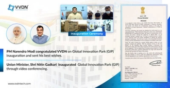 Minister for Road Transport & Highways, Minister of Shipping and the Minister of Micro, Small and Medium Enterprises Nitin Gadkari on Thursday inaugurated VVDN Technologies new Global Innovation Park (GIP)  in Manesar, Haryana, via video conferencing.