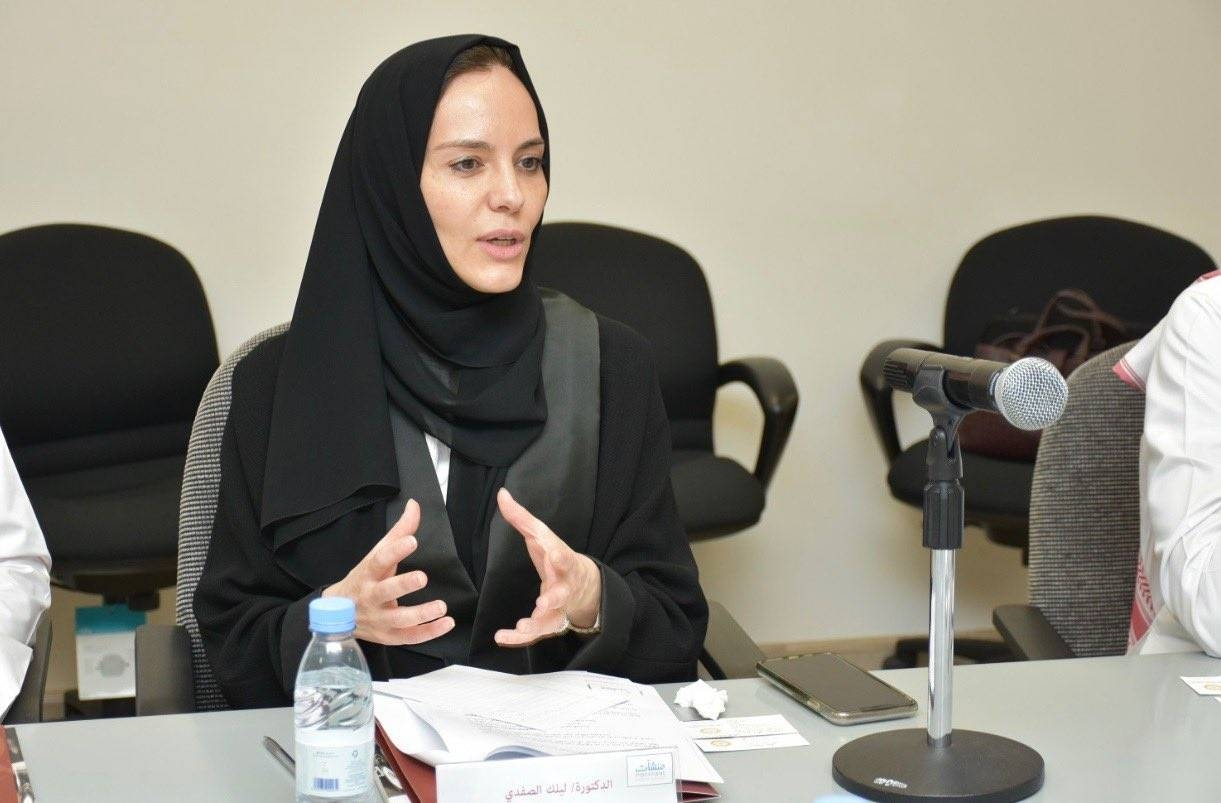 Dr. Lilac AlSafadi was appointed as president of the Electronic University — the first woman president of a Saudi university that includes both male and female students.