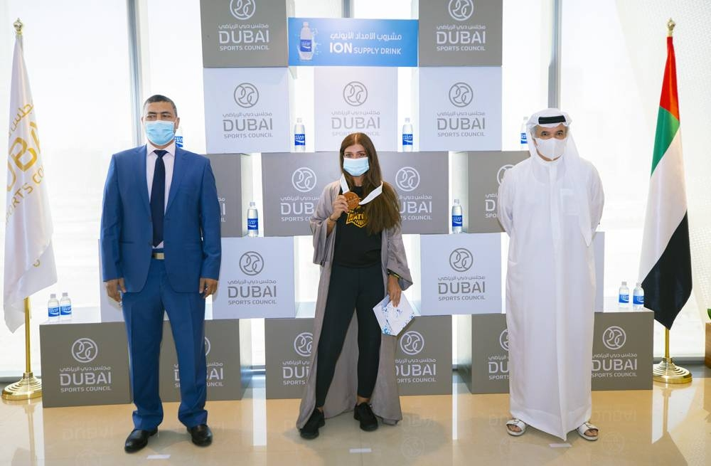 Dubai Sports Council (DSC) held a medals ceremony for the winners of the Pocari Sweat 10K Run at its headquarters on Sunday.
