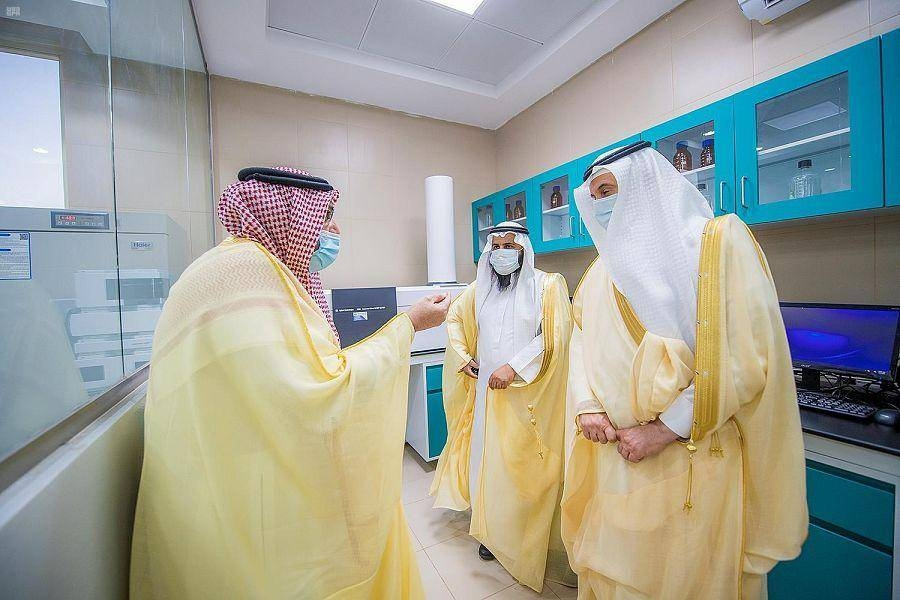 Emir of Qassim Prince Dr. Faisal Bin Mishal Bin Saud at the inauguration of the world's biggest camel hospital in Buraidah on Sunday. — SPA