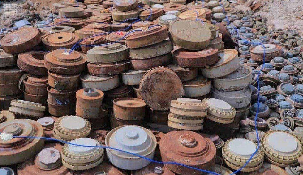 Since the beginning of the project, as many as 172,823 mines have been dismantled after they had been planted by the Iran-backed Houthi militias.
