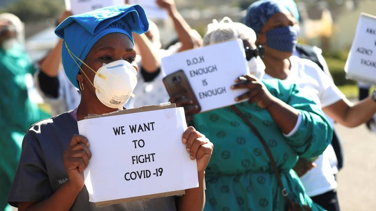 Africa's health systems are the most poorly funded and thinly staffed in the world, and already more than 2,000 health workers have been infected by the virus, according to the WHO. — File photo