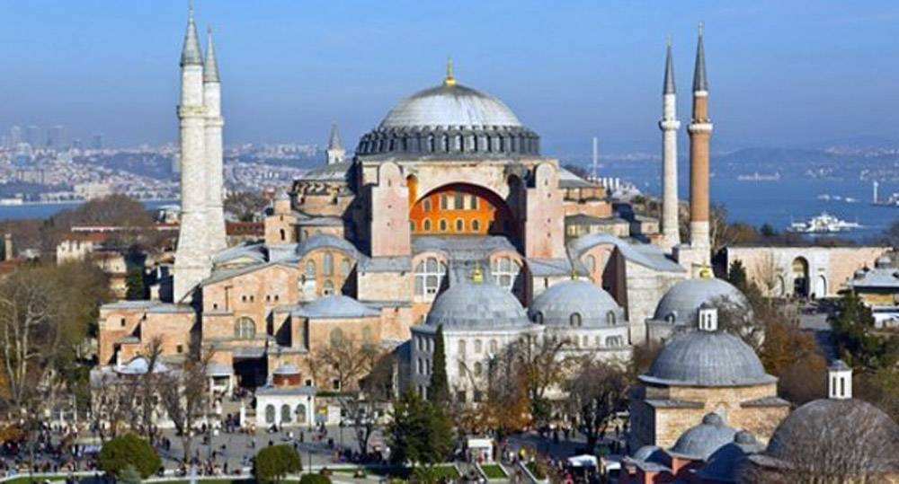 FIle photo shows Hagia Sophia museum, which has been turned back into a mosque by a court ruling.