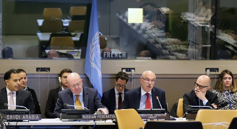 This February 2020 file photo shows Under-Secretary-General of the United Nations Office of Counter-Terrorism and Executive Director of the United Nations Counter-Terrorism Centre (UNCCT) Vladimir Voronkov heading a UN meet. He praised Saudi Arabia's participation in launching the UNCCT Expo.