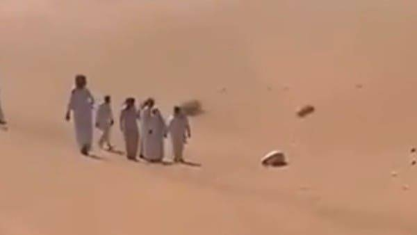 """Dhuwaihi Hamoud Al-Ajaleen who was found in the middle of a desert in Riyadh region while he was in the """"sujood"""". — Courtesy: Twitter"""