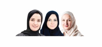 From the right Dr. Amal Fatani, Dr. Yousra Al-Jazairi and Dr. Fahdah Al-Sheikh.