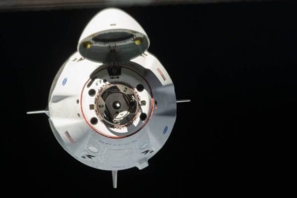 SpaceX's Crew Dragon, carrying Robert Behnken and Douglas Hurley, splashed down under parachutes in the Gulf of Mexico off the coast of Pensacola, Florida at 2:48 p.m. EDT Sunday and was successfully recovered by SpaceX. After returning to shore, the astronauts immediately will fly back to Houston. — Courtesy NASA