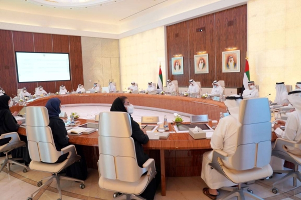The newly reconstituted Cabinet of the United Arab Emirates held an in-personmeeting on Monday for the first time after holding a series of meetings virtually last month over coronavirus fears. — WAM photos