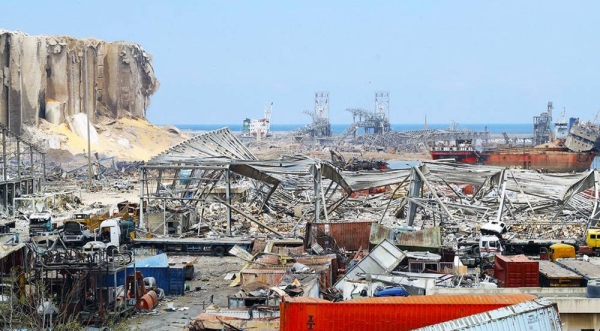 Beirut Port after an explosion on Aug. 4, 2020. — courtesy UNOCHA
