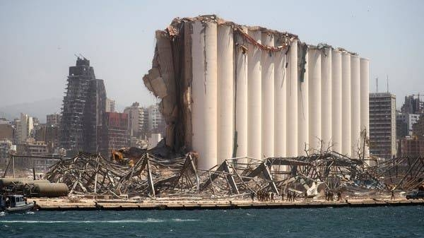A general view shows the damaged grain silo following Tuesday's blast in Beirut's port area. — Courtesy photo
