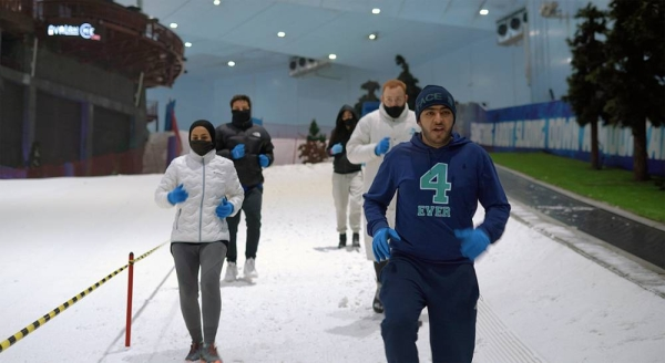 DXB Snow Run takes place at Ski Dubai in the Mall of the Emirates this Friday morning.