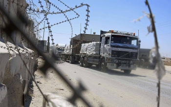Kerem Shalom crossing in the southern Gaza Strip city of Rafah. It is one of three main Gaza border crossings with Israel and Egypt. — File photo