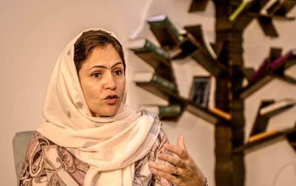 Afghan lawmaker Fawzia Koofi gestures while speaking during a panel discussion in Kabul. — File photo