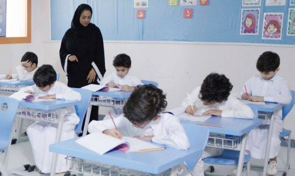 Male teachers in Saudi Arabia teach for 20 hours and female teachers for 20.3 hours, according to the report. — File photo