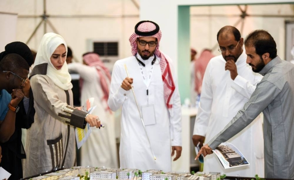 During one of the real estate shows in KSA.