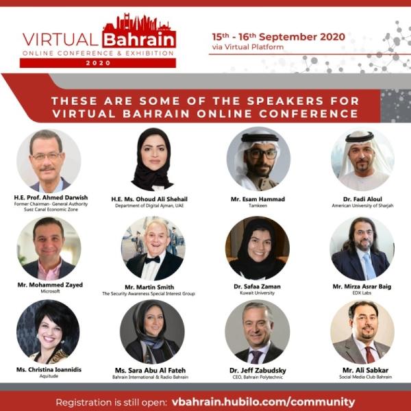 Prominent Bahraini, international speakers in 'Virtual Bahrain 2020'