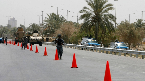 The blast happened on airport road in Baghdad. — Courtesy photo