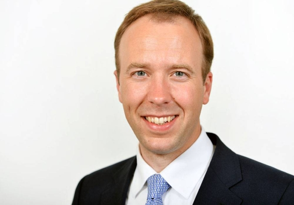 UK Health Secretary Matt Hancock.