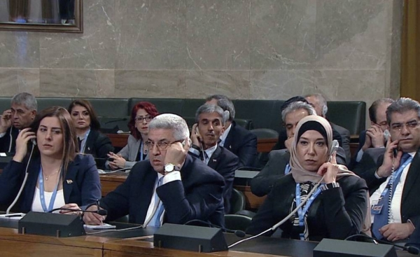 File photo features members of the Syrian Constitutional Committee in the Council Chamber at the United Nations in Geneva. — courtesy UNIFEED