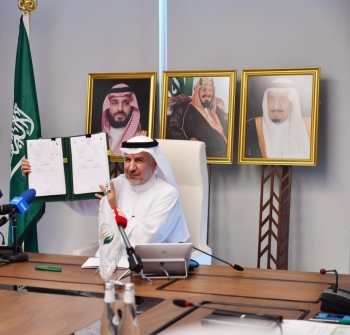 General Supervisor of the KSrelief and Advisor at the Royal Court, Dr. Abdullah Al-Rabeah, after three agreements were signed at a virtual meeting in Riyadh, Saturday. — Courtesy photo