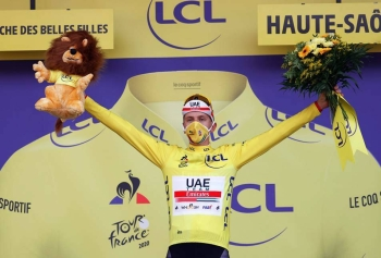 Tadej Pogacar pulled off one of the most astonishing rides of Tour de France history in the penultimate time trial stage, virtually clinching this year's Tour.
