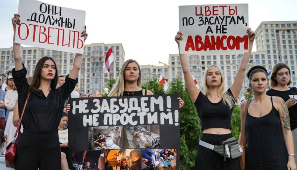 The violence used by security forces across Belarus against peaceful protesters was strongly criticized by UN human rights experts. — courtesy Kseniya Halubovich